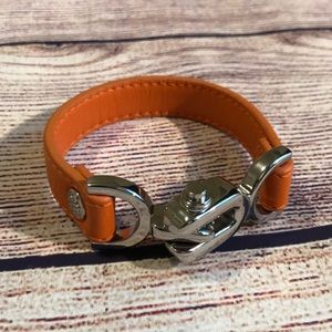 Splendid Orange Leather Bracelet